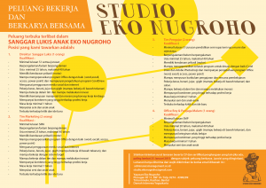 poster lowongan kerja STUDIO EKO NUGROHO